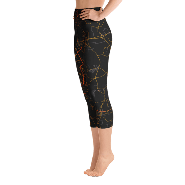Yoga Capri Leggings Malmö Black & Orange