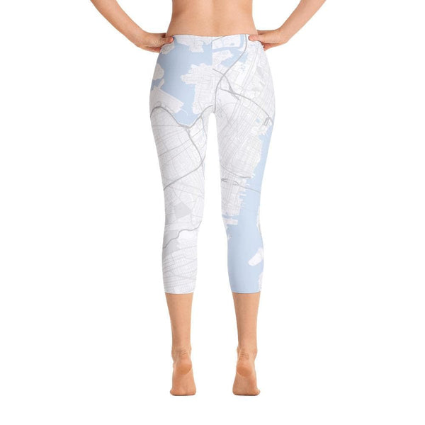 New York White Capri Leggings