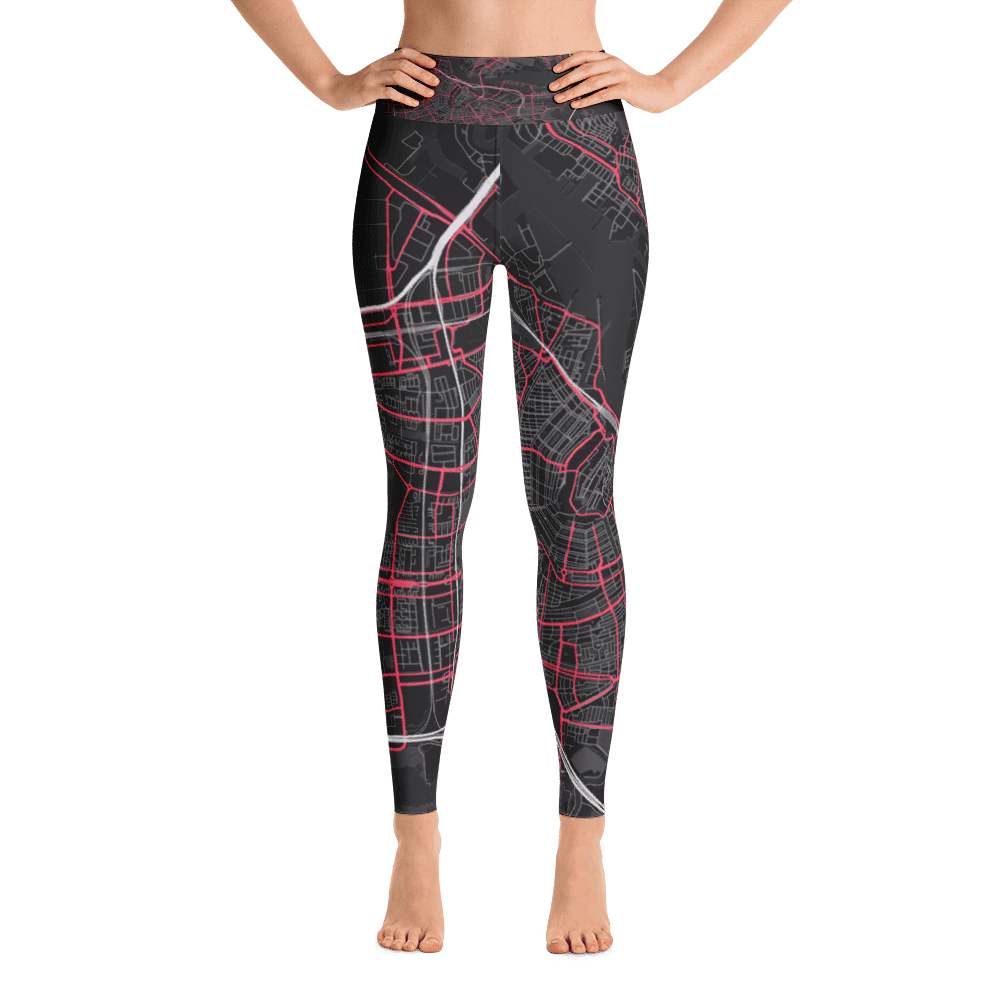 Yoga Leggings Amsterdam Black Pink