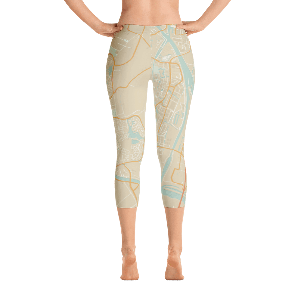 Capri Leggings Houten Retro