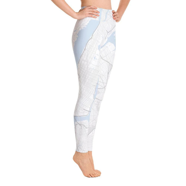 New York White Yoga Leggings
