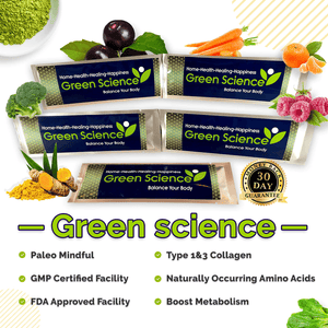 Green Science + Collagen Complete Stick Sizes, Anti-Aging Green Powder Drink - More Natural Healing