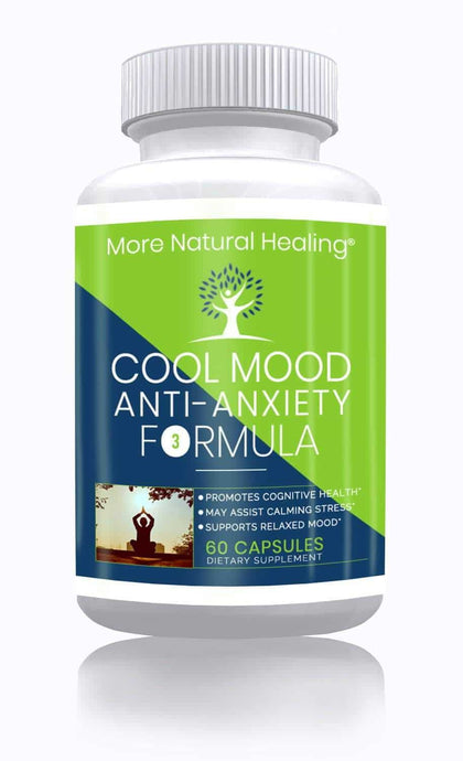 More Natural Healing Cool Mood Anti-Anxiety Formula Supplement for Anxiety Relief, Cognitive Health and Stress Relief - More Natural Healing
