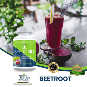 Beetroot Extract Capsules Blood Sugar Support and Blood Pressure Lowering Supplement - More Natural Healing