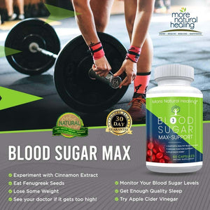 Blood Sugar Max Support Capsules for Healthy Blood Sugar and Glucose Metabolism Support - More Natural Healing