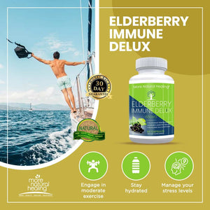 Elderberry Immune Delux, Elderberry Immune System Booster and Anti-inflammatory Supplement - More Natural Healing