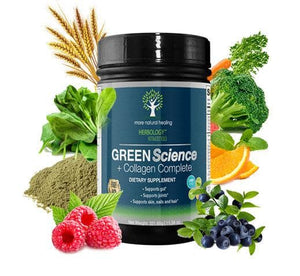 Green Science + Collagen Complete Anti-Aging Green Powder Drink - More Natural Healing
