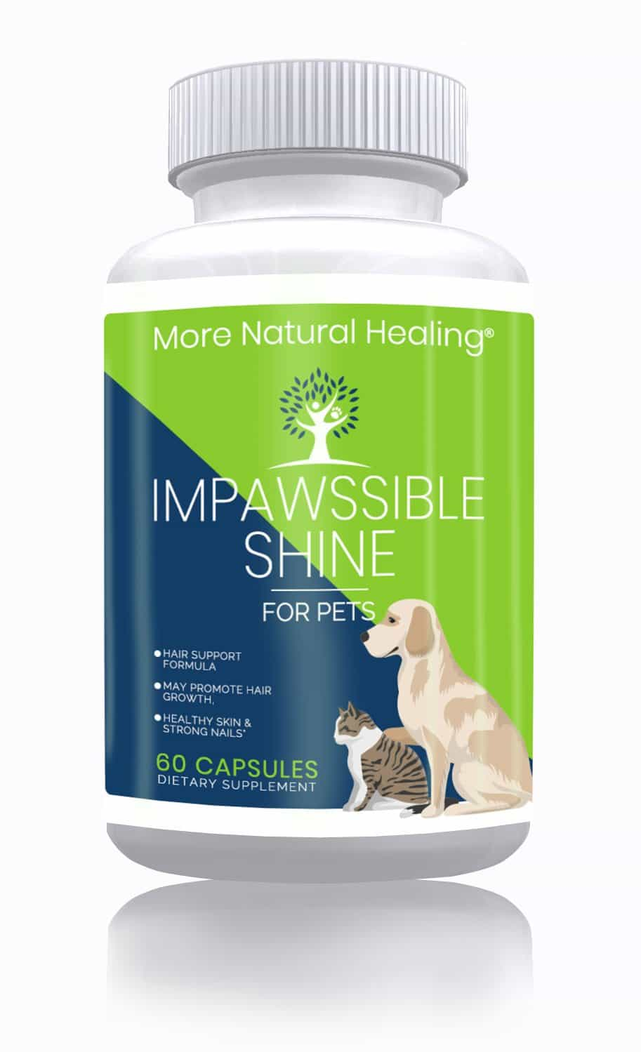 ImPawssible Shine for Pets Skin, Hair and Nails Supplement - More Natural Healing