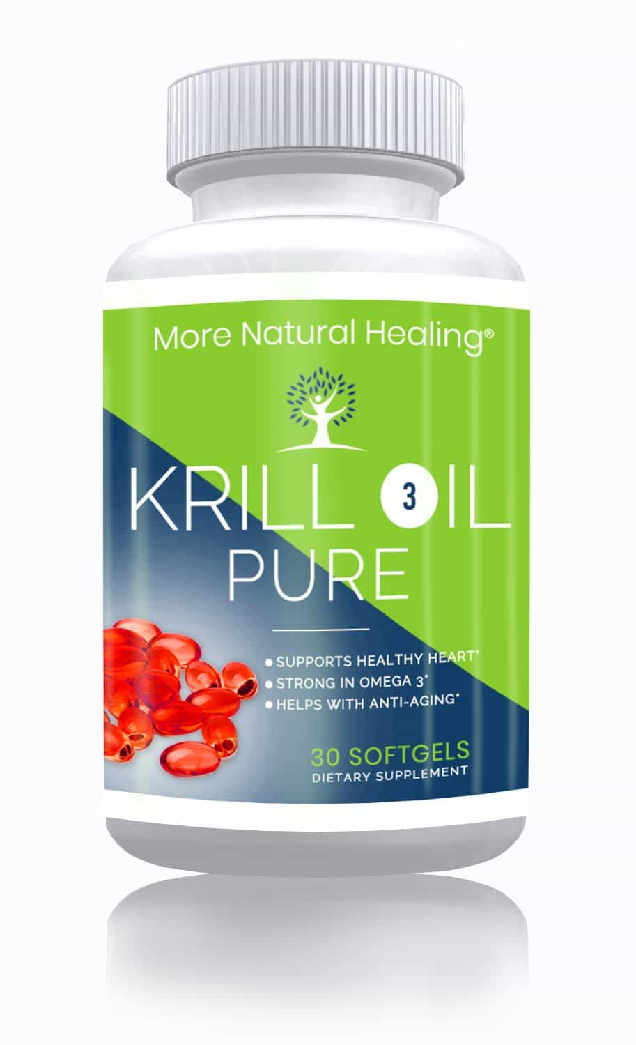 Pure Krill Oil Omega 3 Softgels Heart Health and Anti Aging Supplement - More Natural Healing