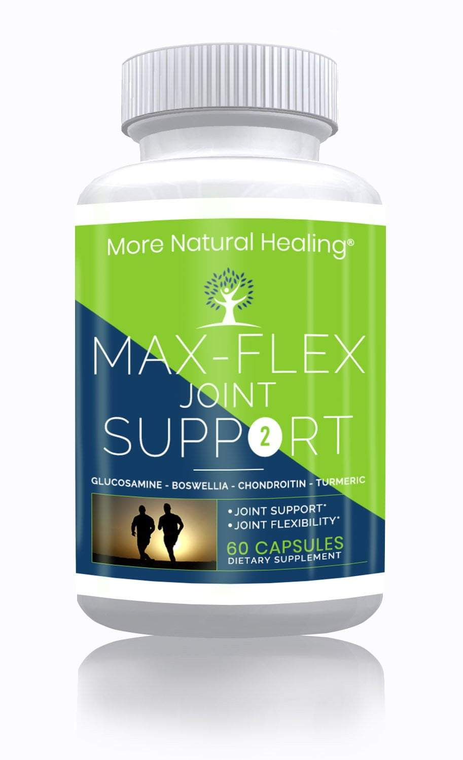 Max Flex Joint Support Capsules Anti-Inflammatory and Anti-Aging Glucosamine Supplement - More Natural Healing