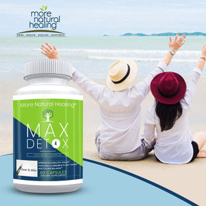 Max Detox Complete Body Detox Capsules Healthy Colon and Gut Flora Balance Supplement - More Natural Healing