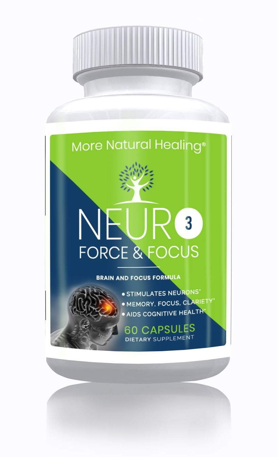 NeuroForce & Focus Cognitive Health, Memory, Clarity and Brain Focus Supplement - More Natural Healing