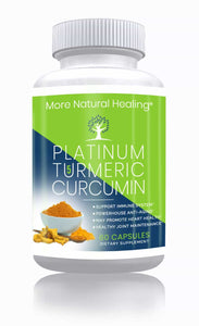 Platinum Turmeric Curcumin with BioPerine Capsules for Immune System Support and Joint Pain Relief - More Natural Healing