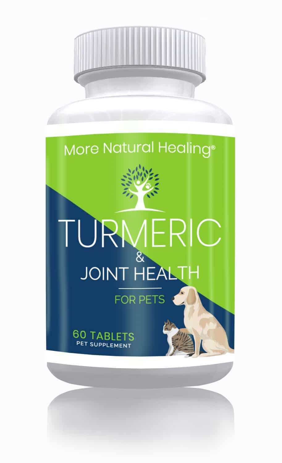 Turmeric & Joint Health Supplement for Pets Anti Inflammatory Tablets - More Natural Healing