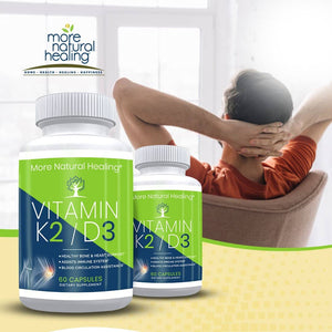 Vitamin K2/D3 Supplement for Healthy Heart, Bone, Immune System and Blood Circulation Support - More Natural Healing