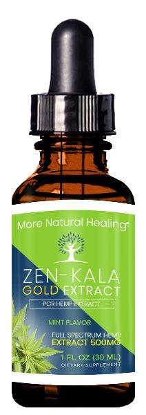 Zen-Kala Gold Tincture Extract for Sleep, Stress, Anxiety and Pain Relief - 15,000 MG - More Natural Healing