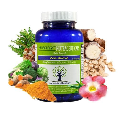 Zen-Alleve Natural Relief For Osteoarthritis, Fibromyalgia, Chronic Pain and Muscle Soreness - More Natural Healing