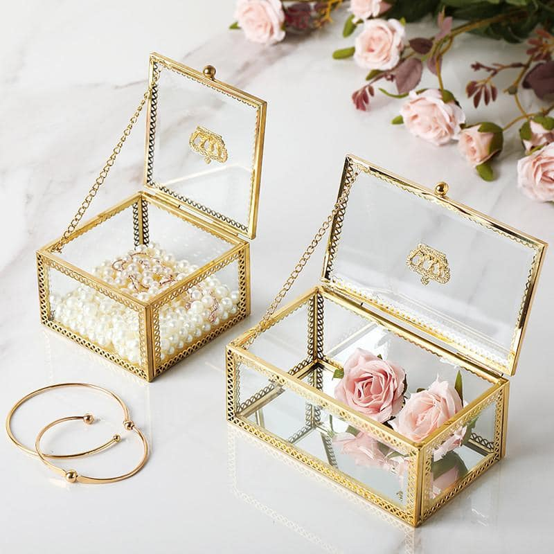 Luxury Gold Retro Crown Jewelry Box - More Natural Healing