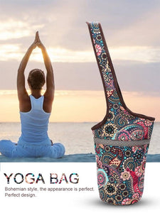 Canvas Printed Yoga Bag, Waterproof and Multi-function and Large Zipper Pocket - More Natural Healing