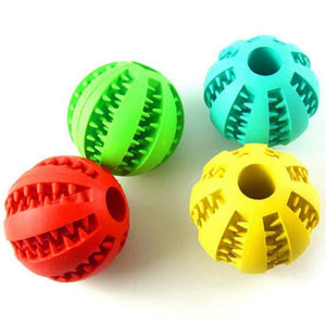 Dog or Cat Interactive Treat Rubber Balls
