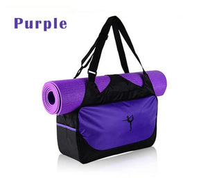 Quality Multifunctional Waterproof Yoga Bag for Gym, Yoga, Pilates with Shoulder Straps and Mat Straps