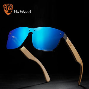 HU WOOD Bamboo Spring Arm Sunglasses For Women with UV400 Polarized Mirror Lenses - More Natural Healing