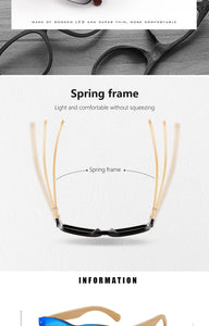 HU WOOD Bamboo Spring Arm Sunglasses For Women with UV400 Polarized Mirror Lenses - More Natural Healing - Balanced Life from Nature