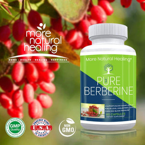 Pure Berberine Vegetarian Capsules for Blood Sugar Support and Cardiovascular Health - More Natural Healing