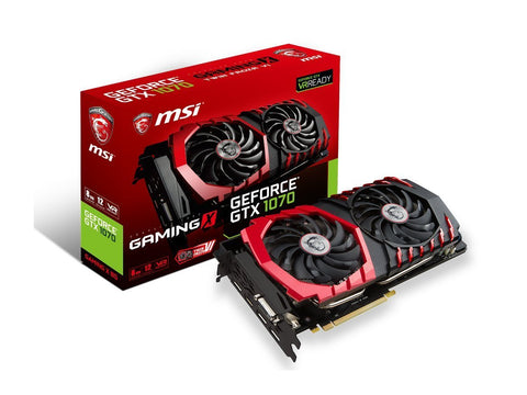 MSI GeForce GTX 1070 8GB GDDR5 SLI 12 VR Ready Graphics Card - Crypto Drilling