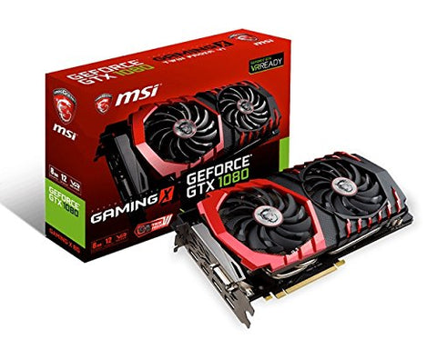 MSI GeForce GTX 1080 8GB GDDR5X SLI VR Ready Graphics Card - Crypto Drilling