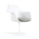 Fauteuil pivotant, structure blanche | Collection Saarinen Tulipe