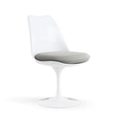 Chaise pivotante, structure blanche | Collection Saarinen Tulipe