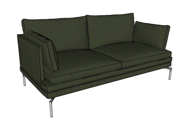 Canapé en velours, longueur 180cm I 1330 William