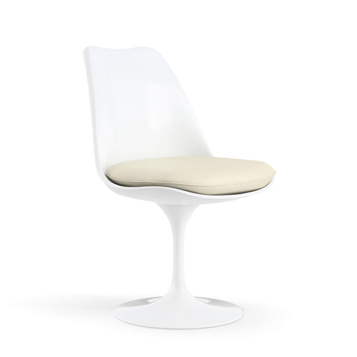 Chaise pivotante, structure blanche | Collection Saarinen Tulipe - octantdesign.com