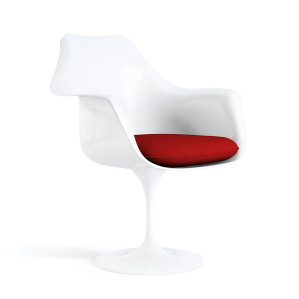 Fauteuil pivotant, structure blanche | Collection Saarinen Tulipe - octantdesign.com