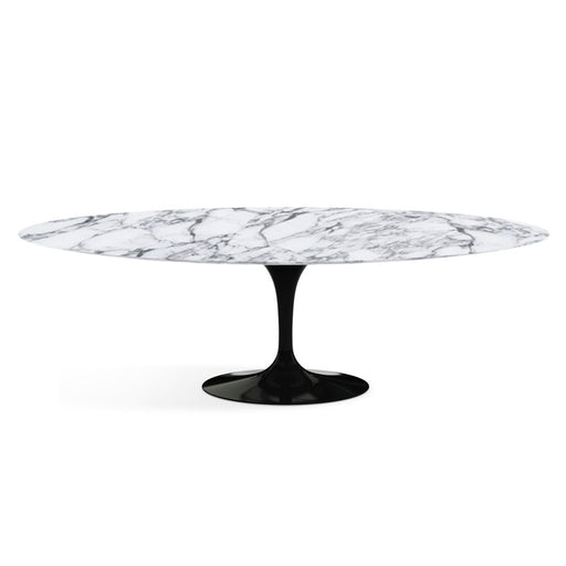 Table ovale, Marbre Arabescato Saarinen - octantdesign.com