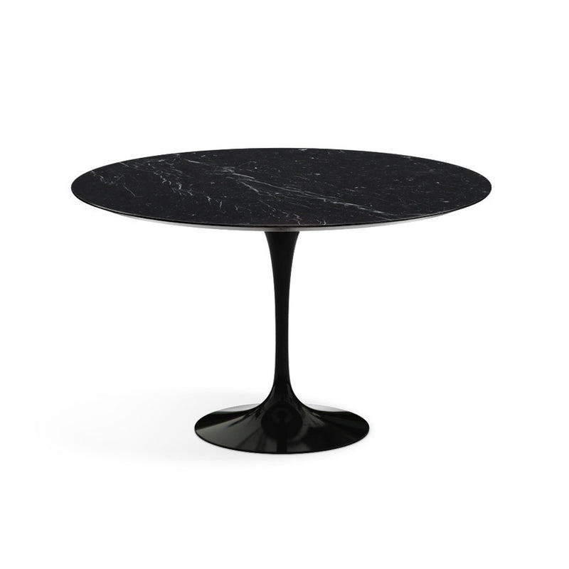 Table ronde haute, Marbre Marquina Saarinen - octantdesign.com