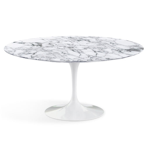 Table ronde haute, Marbre Arabescato Saarinen