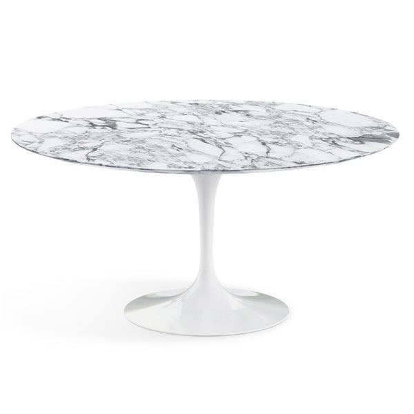 Table ronde haute, Marbre Arabescato Saarinen - octantdesign.com