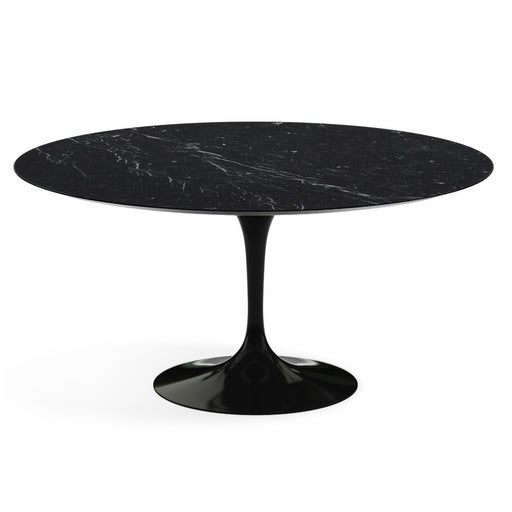 Table ronde haute, Marbre Marquina Saarinen