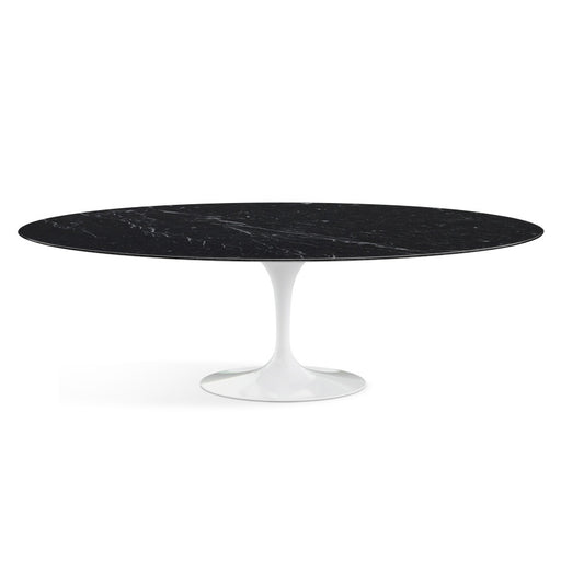 Table ovale, Marbre Marquina Saarinen - octantdesign.com