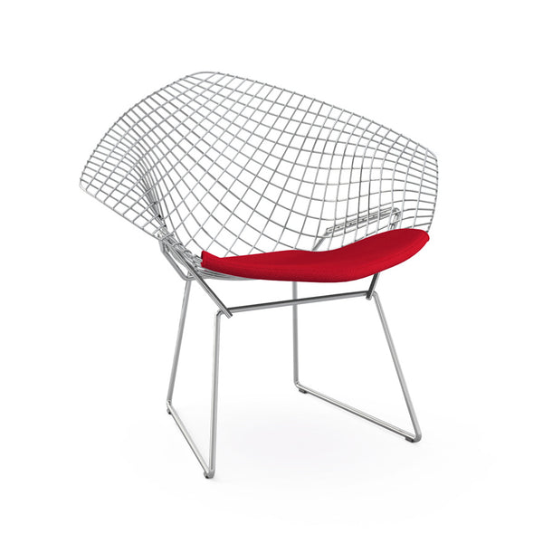 Fauteuil diamant, Structure chrome poli - octantdesign.com