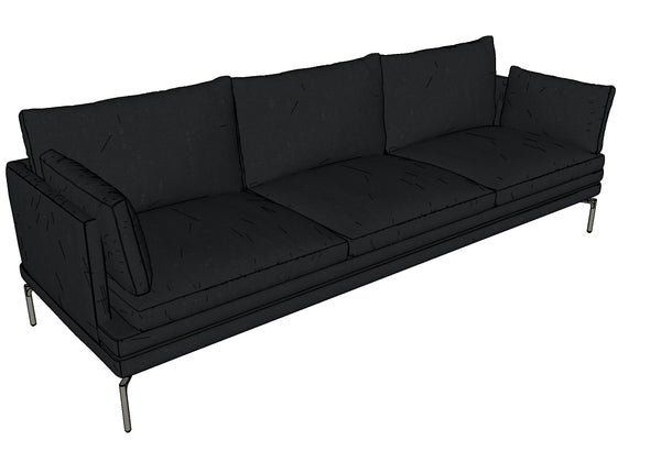 Canapé en velours, longueur 266cm I 1330 William