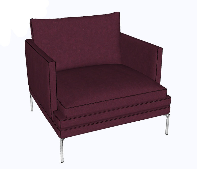 Fauteuil en velours I 1330 William