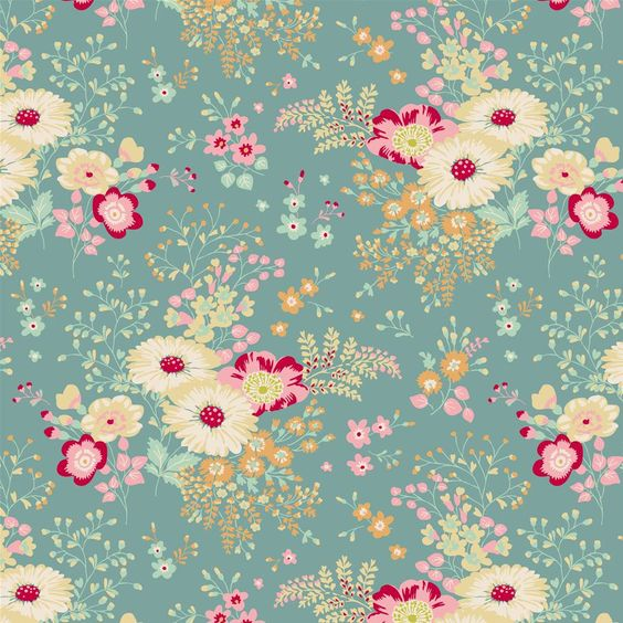 Tilda Quilt Collection Lucille Teal 481223