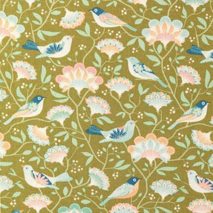 Tilda Quilt Collection Bird tree Green 481500