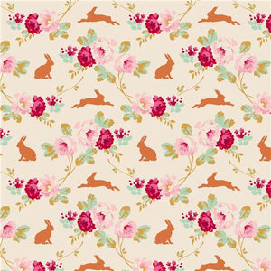 Tilda Quilt Collection Rabbit et Roses Linen