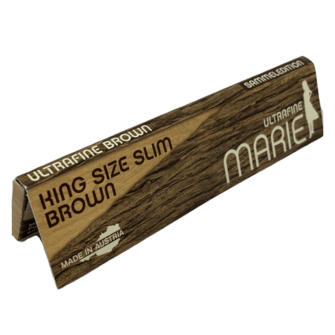 Marie KING SIZE SLIM BROWN | Wooden Rolls