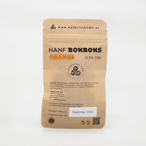 CBD Hanfbonbons Orange