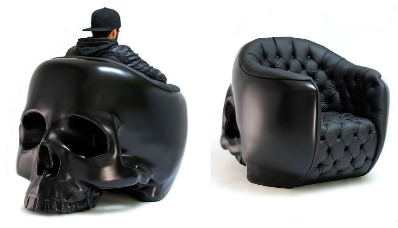 Badass Furniture For Halloween And Skull Chair For Sale